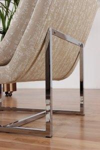 Restored Mid Century Modern Chrome Base Scoop Chair ...