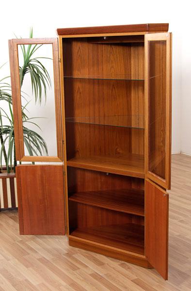 Vintage Skovby Teak Corner China Cabinet  Modernism