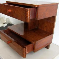 Side Table Sofa Can You Reupholster A Bed American Art Deco Rosewood Modernism