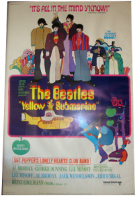 Original 1968 Beatles Yellow Submarine Movie Poster