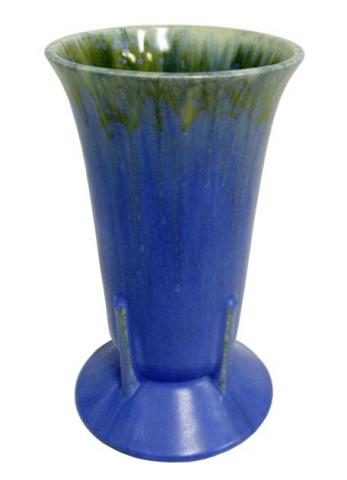 Frank Ferrell Roseville Futura Art Deco Vase Purple Crocus Modernism