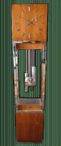 Mid Century Modern Lighted Grandfather Clock Ca 1960