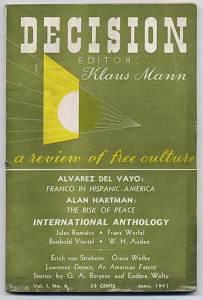 Eudora Welty, cover design, 1:6 (June 1941).