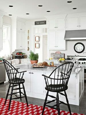 black chairs in kitchen remodeling