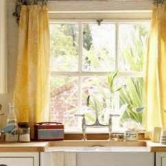 Kitchen Drapes Glacier Bay Faucet What A Difference Curtains Make Modernize Mini