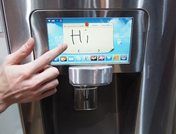 The Samsung LCD Refrigerator with apps.