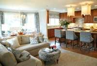Open Concept Kitchen and Living Room Dcor - Modernize