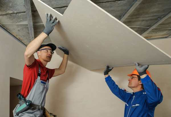 Installing Ceiling Drywall Sheets