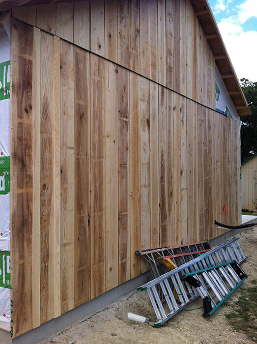 Stained Cypress Posts