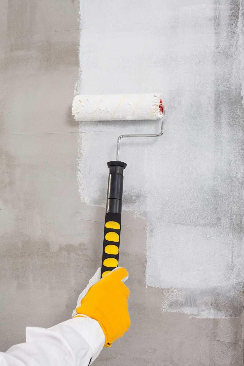 Preparing interior concrete walls for painting for Preparing interior walls for painting