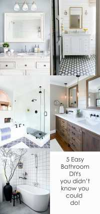 5 Easy DIY Bathroom Upgrades That Will Surprise You ...
