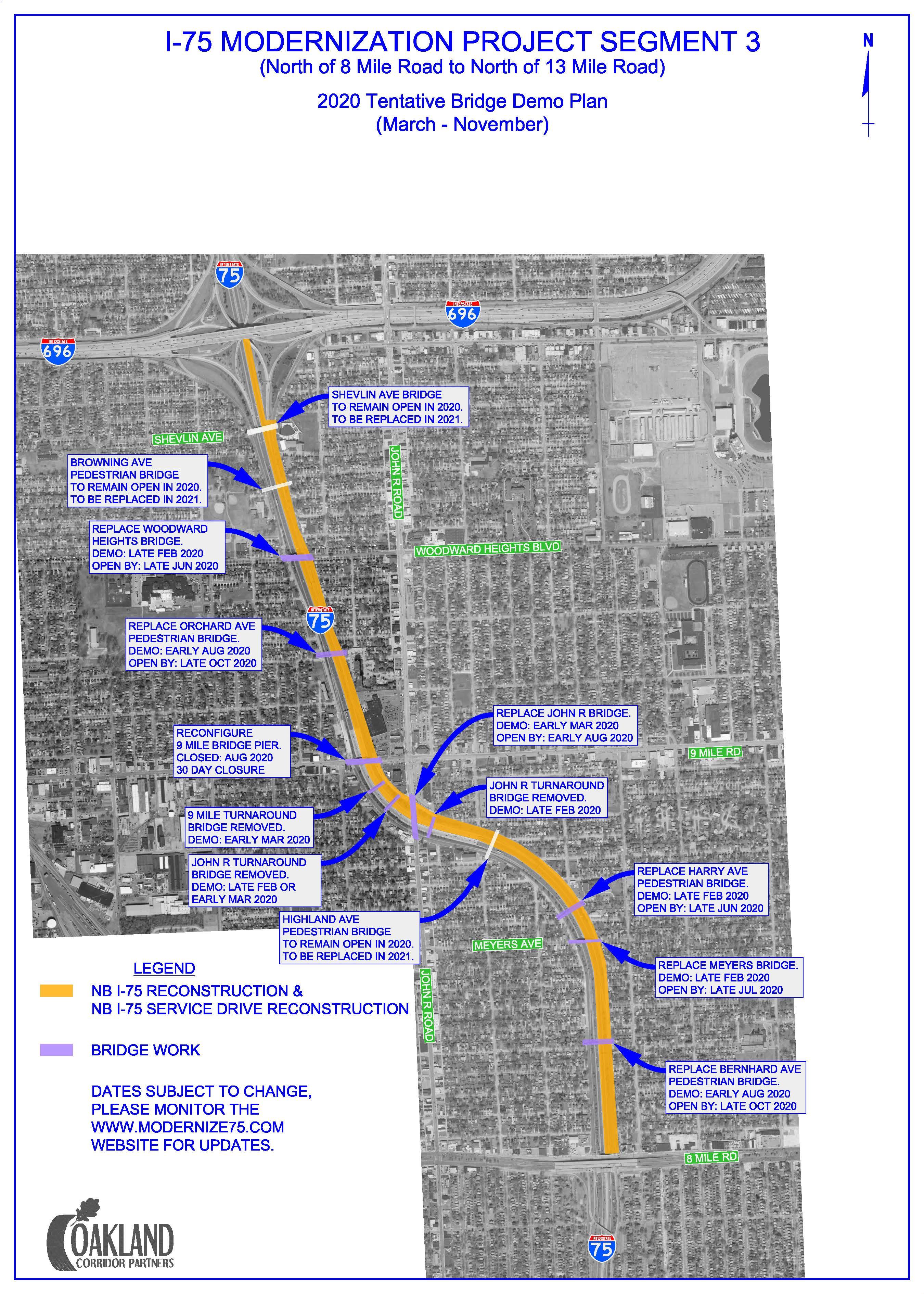 I-75 Closure Detroit Map : closure, detroit, Modernization, Project