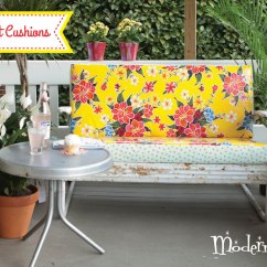Sewing Patterns For Patio Chair Cushions Geri Recliner With Oilcloth Spotlight Seat Cushion