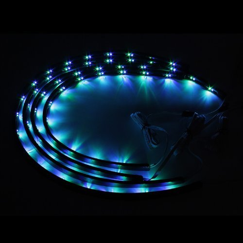 ZHOL Sound Activated 7 Color LED Under Car Glow Underbody