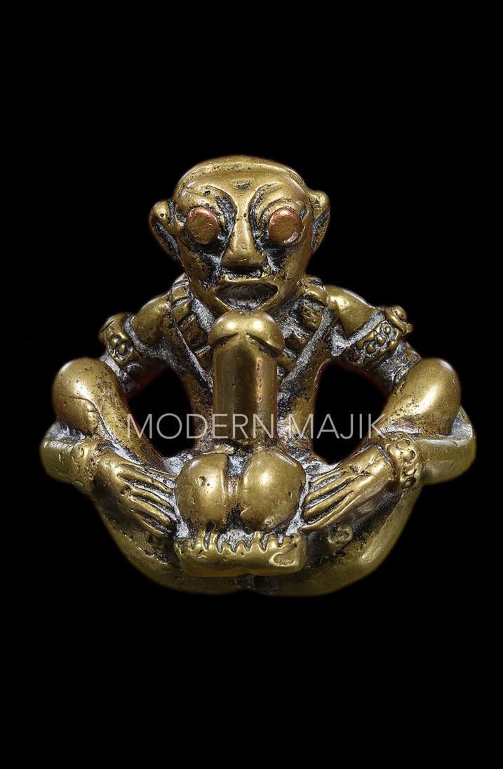 SON GOKU งั่งโบราณเนื้อทองผสม ทรงเครื่อง ตาทองแดง จู๋ทองแดง MODERN MAJIK