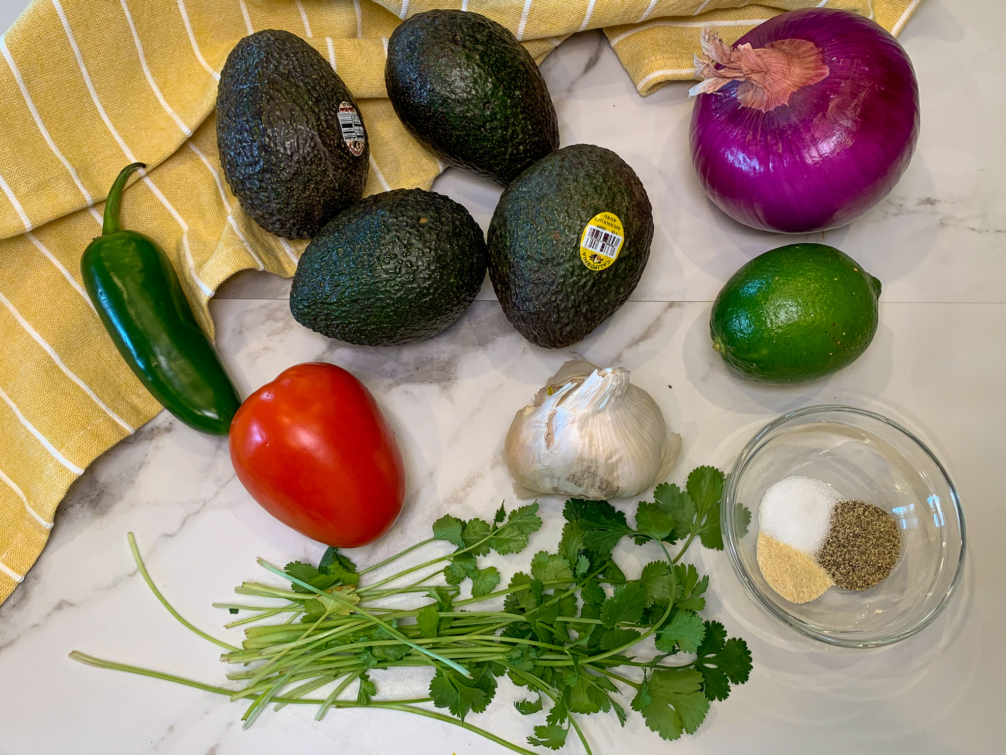 ingredients needed for guacamole