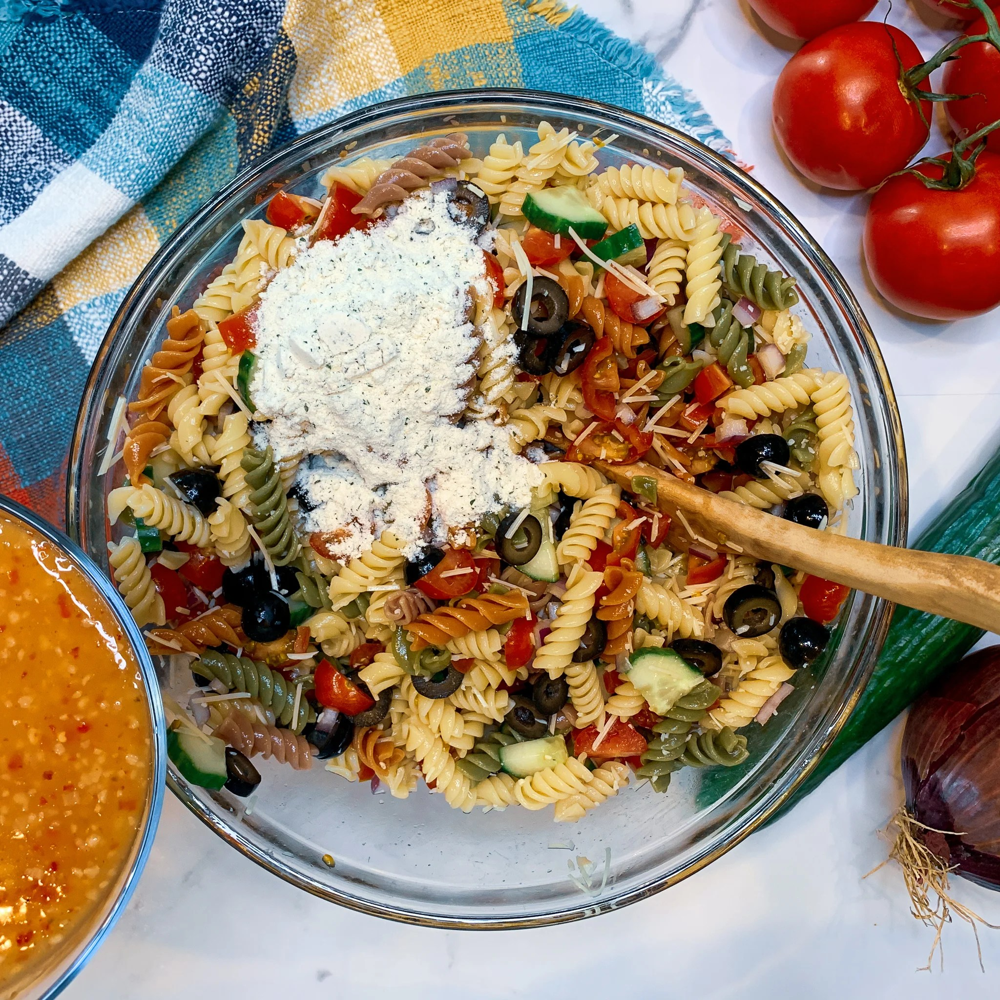 Pasta Noodles with Ranch Dressing
