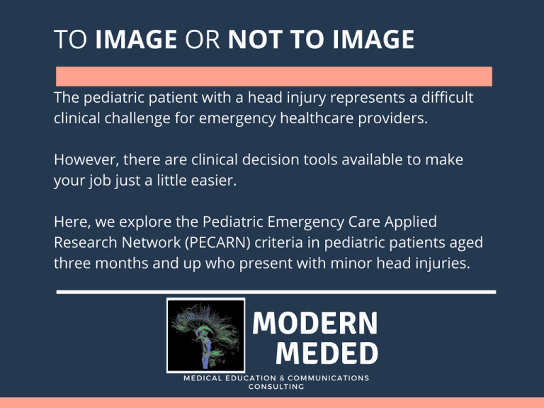 PECARN Criteria for Head CT Decision in Pediatric Head Injury