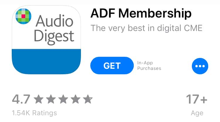 Audio Digest CME Review App Store