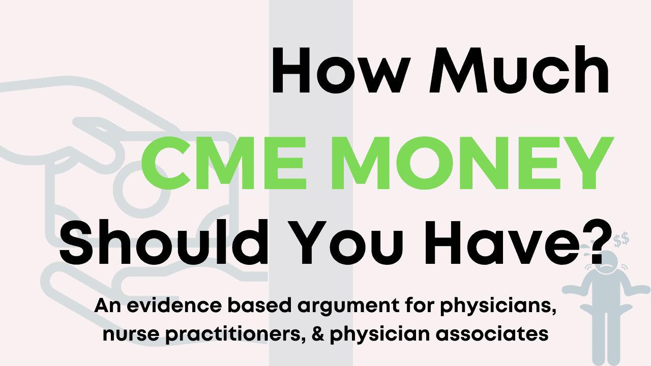 How much CME money different clinicians receive