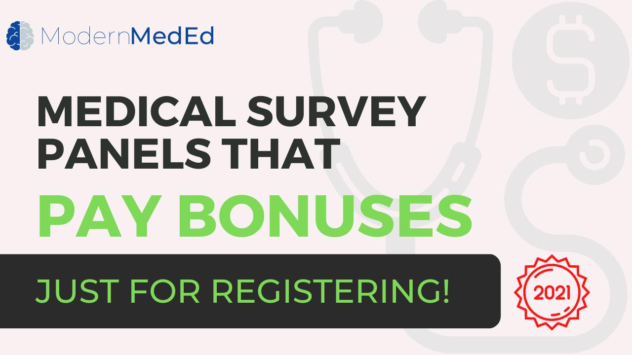 Paid medical survey panels offering bonus incentives