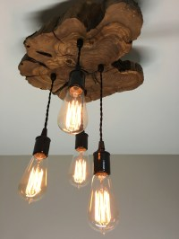 Live Edge Olive Wood Light Fixture | Modern Midwest