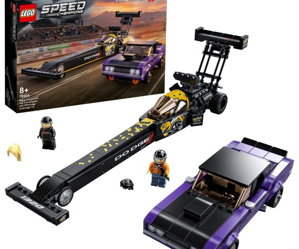 New LEGO® Speed Champions Mopar Dodge//SRT Top Fuel Dragster and 1970 Dodge Challenger Building Set