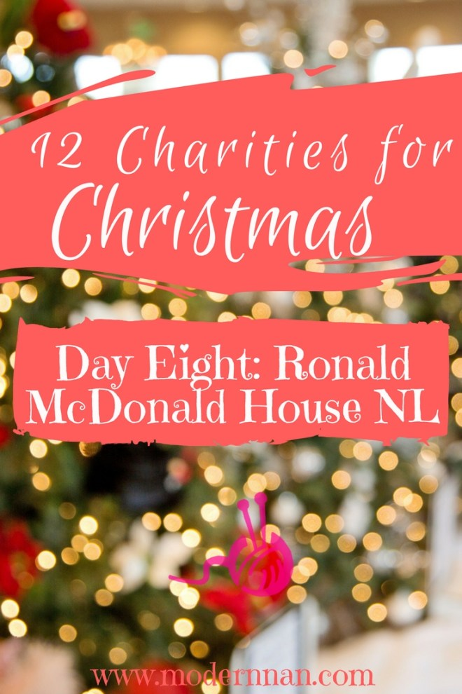 12 Charities For Christmas: Day 8 - Ronald McDonald House NL