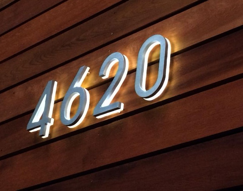 Modern 8 Backlit LED House Numbers Luxello