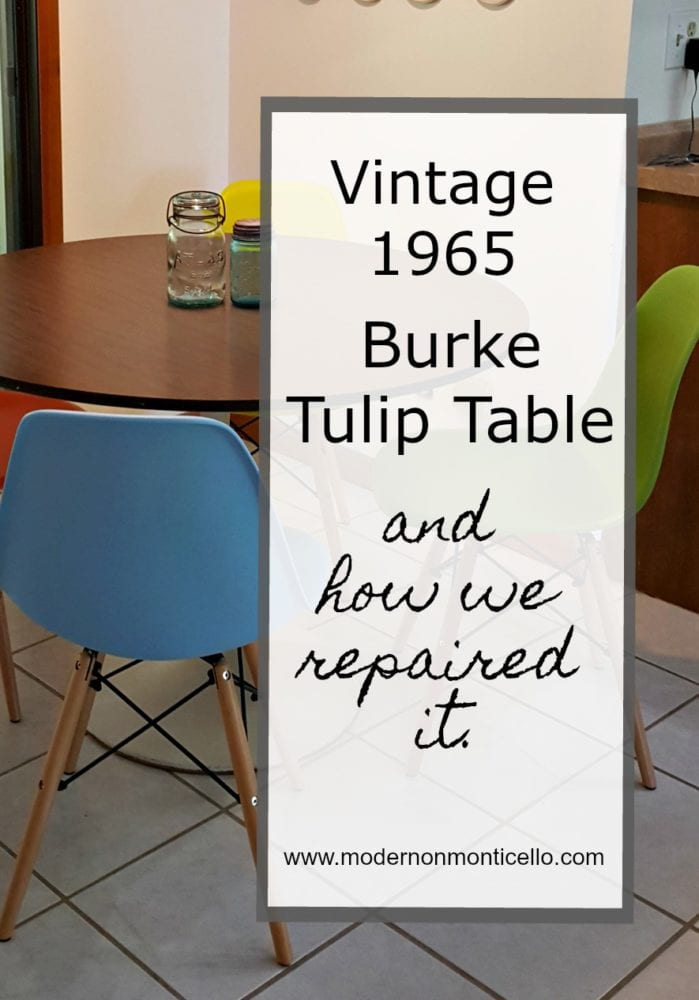 tulip table and chairs ice fishing chair we bought a vintage 1965 burke repaired it too