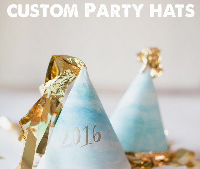 Diy Party Hats Totally Making These Watercolor New Years Eve Hats With The Kids This