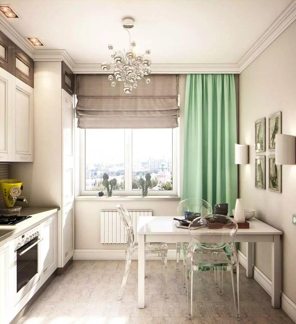 дизайн кухни 9 кв м с балконом 2