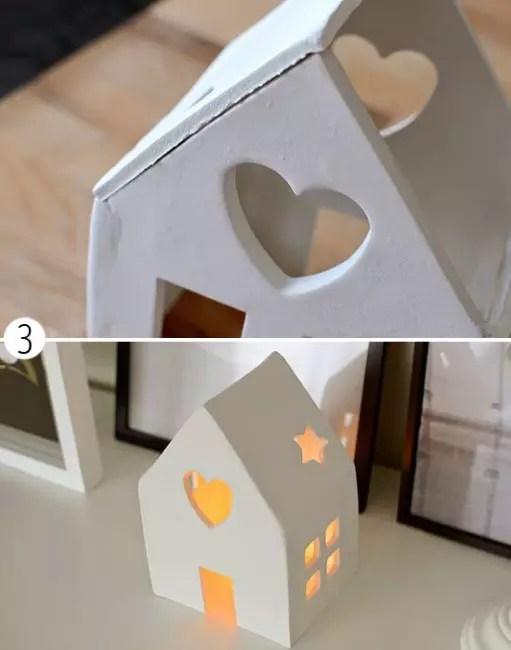 Ставим свечку в середину домика