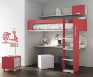 근무 공간이있는 침대 다락방 (165+ 사진) : 소형 객실의 원래 아이디어
