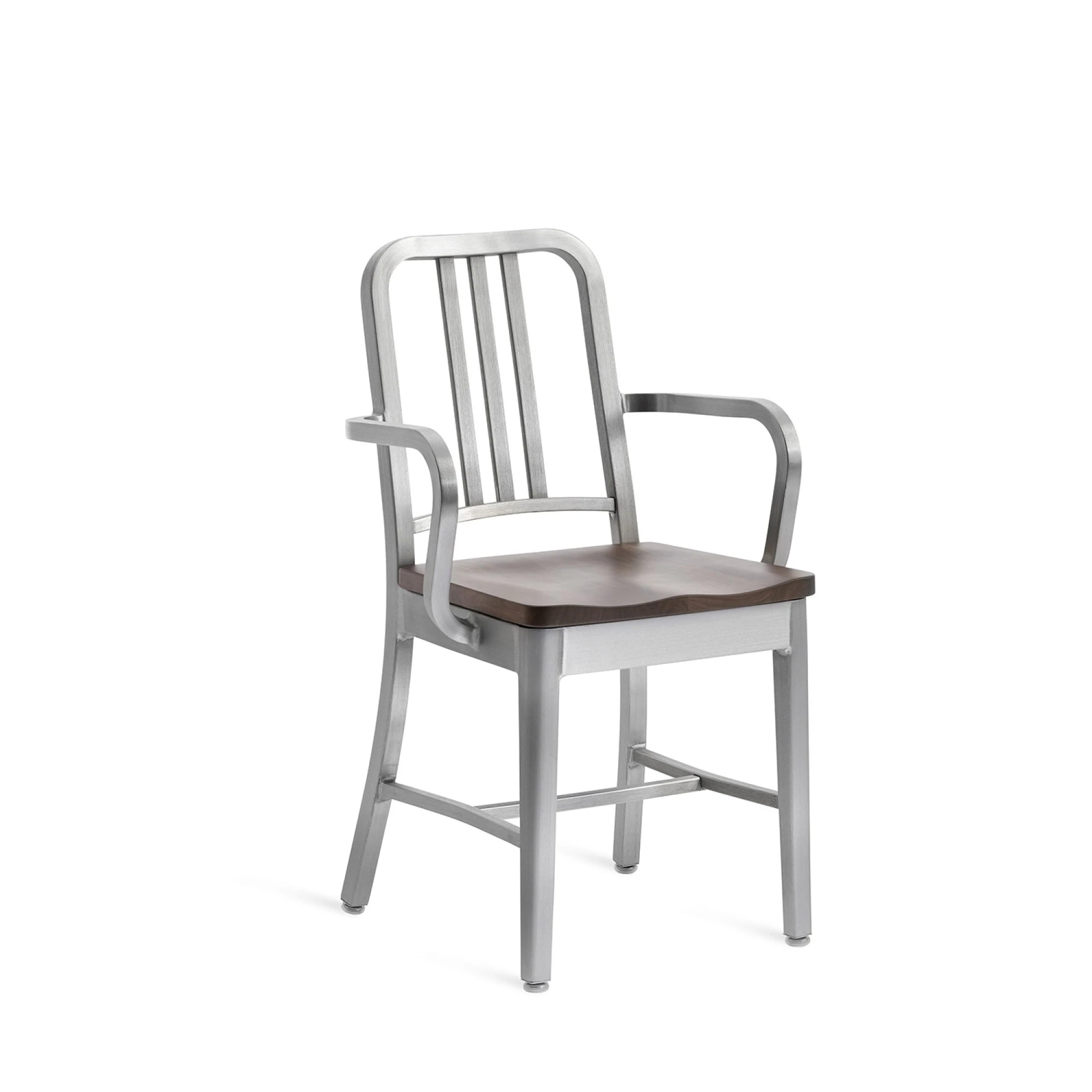 navy chair stool office replacement wheels emeco arm with natural wood seat modern planet