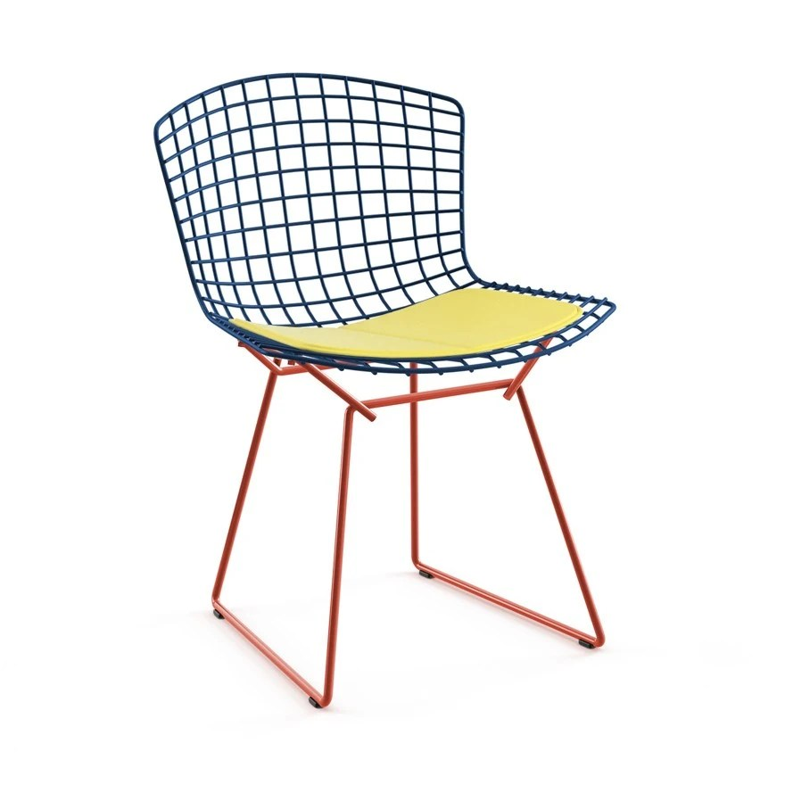 bertoia side chair aluminum chaise lounge pool chairs knoll harry two tone