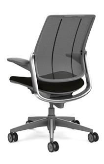 diffrient smart chair universal covers ebay humanscale task dark gray frame with polished aluminum trim 82 00