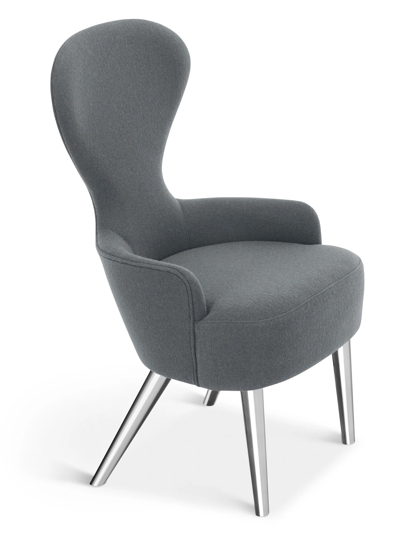 modern wingback chair canada portable high seat tom dixon dining planet