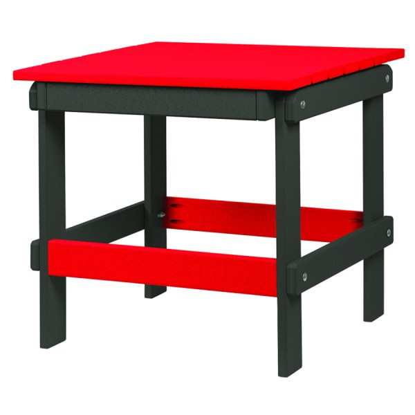Bright Red Folding End Table MD124