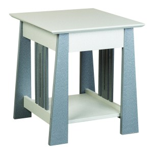 Mission End Table with Slats