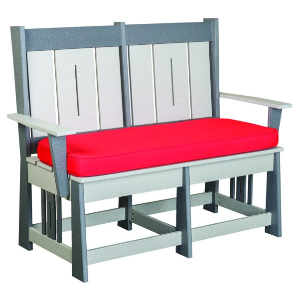Mission with Slats Bench with Cushion