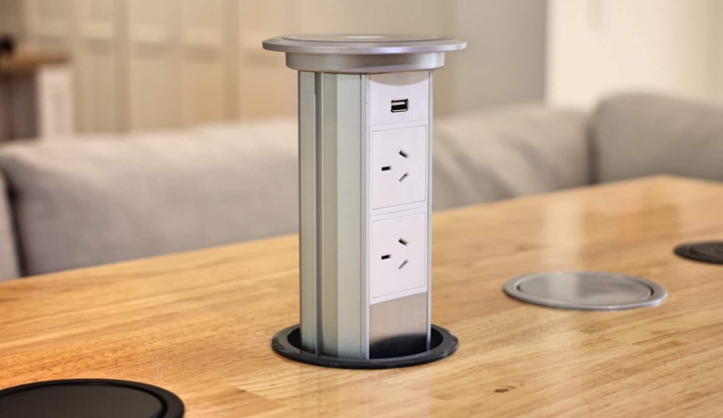 pop up outlets for kitchen used equipment miami v3m motorised automatic led power outlet point