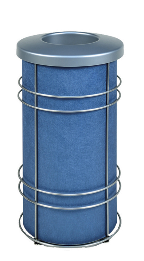 DeepStream Designs Chameleon Modern Trash Bin with Blue Graphics