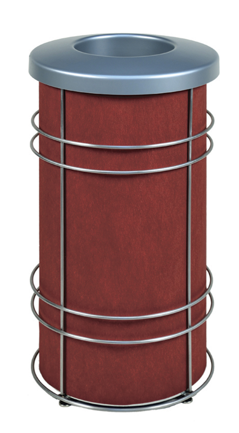 DeepStream Designs Chameleon Trash Bin with Red Graphics