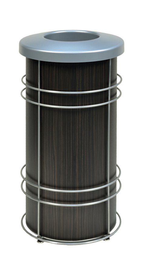 DeepStream Designs Chameleon Modern Trash Bin with Wenge Graphics