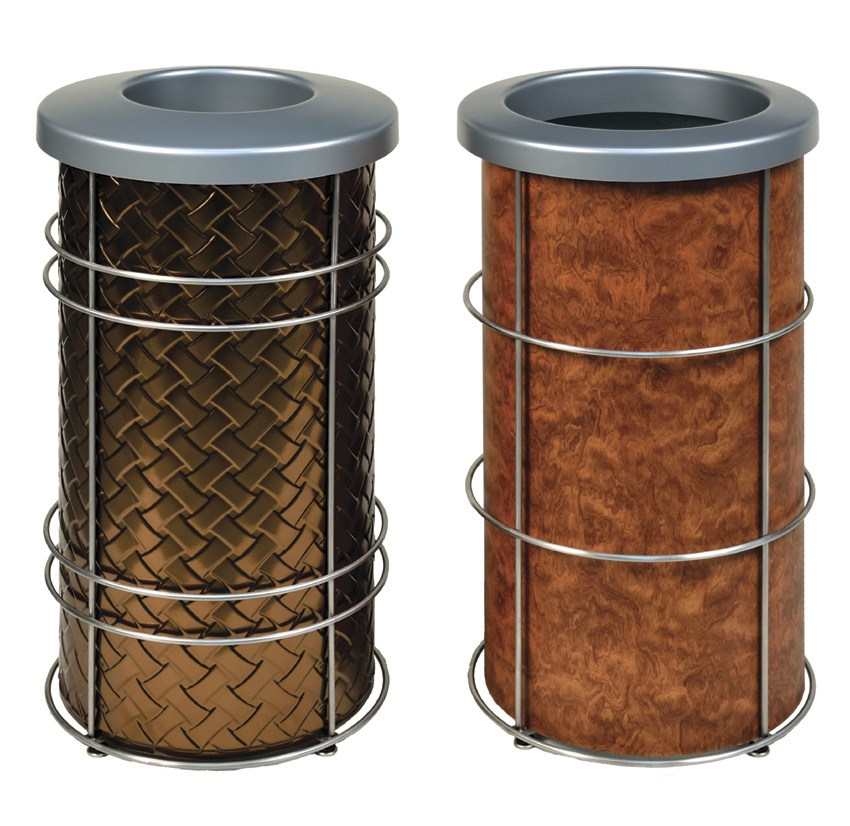 Nice Modern Round Trash and Recycling Bins by DeepStream Design