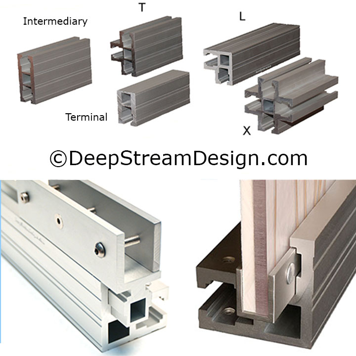 DeepStream's Custom Fixtures are built using 5 primary trademark marine anodized aluminum extrusions engineered for extreme conditions