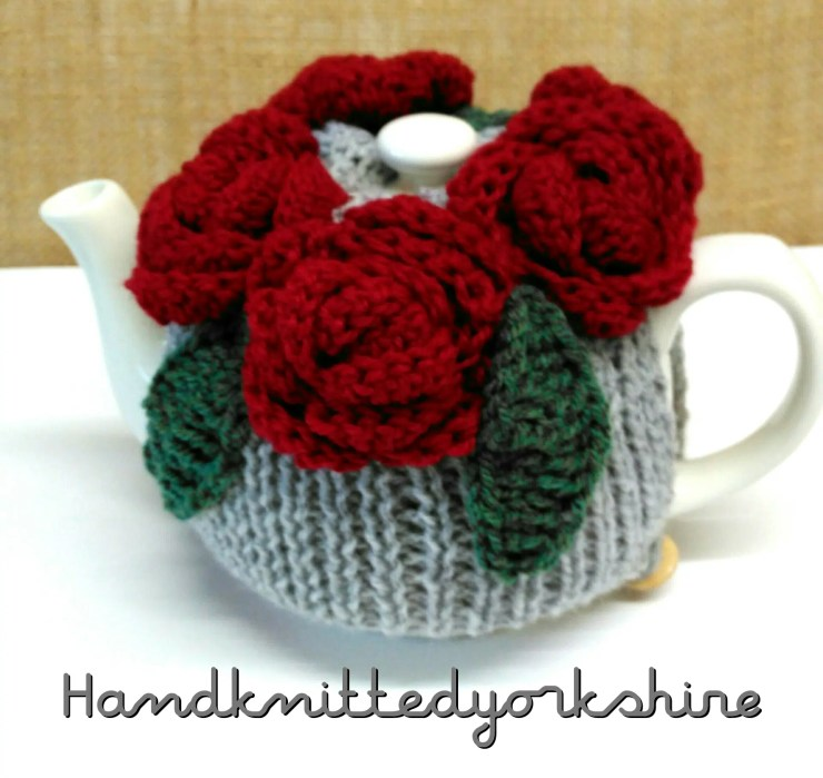 Hand knitted yorkshire tea cosy
