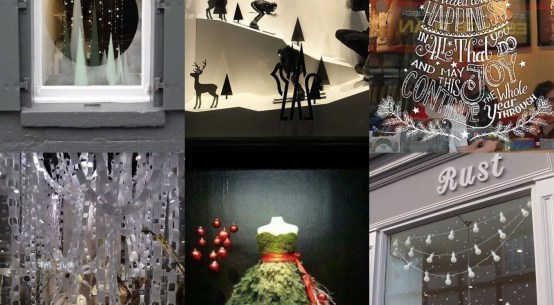 festive window displays