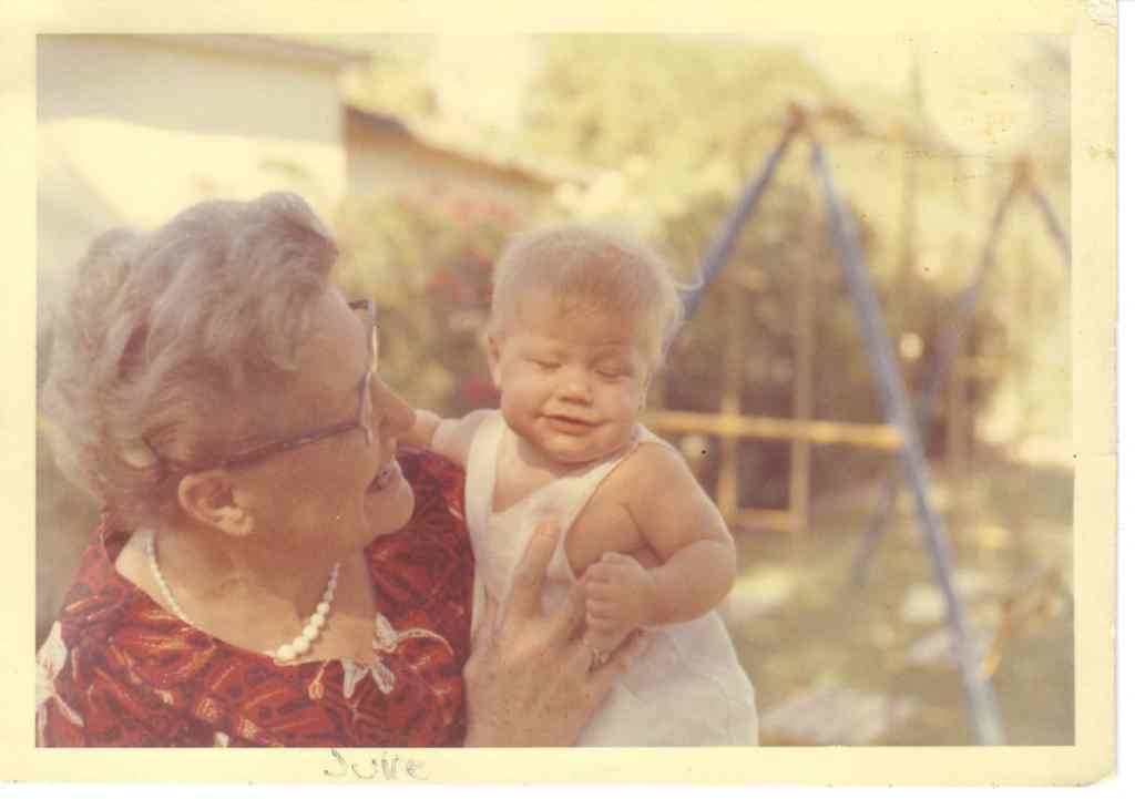 My Grandmother Lois and Me in 1961